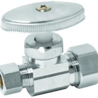 "5/8"" OD Comp. x 3/8"" OD Comp. Multi-Turn Straight Stop Valve"