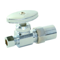 "1/2"" CPVC x 3/8"" OD Comp. Multi-Turn Straight Stop Valve"