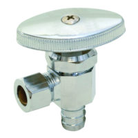 "1/2"" Crimp PEX x 3/8"" OD Comp. Multi-Turn Angle Stop Valve"