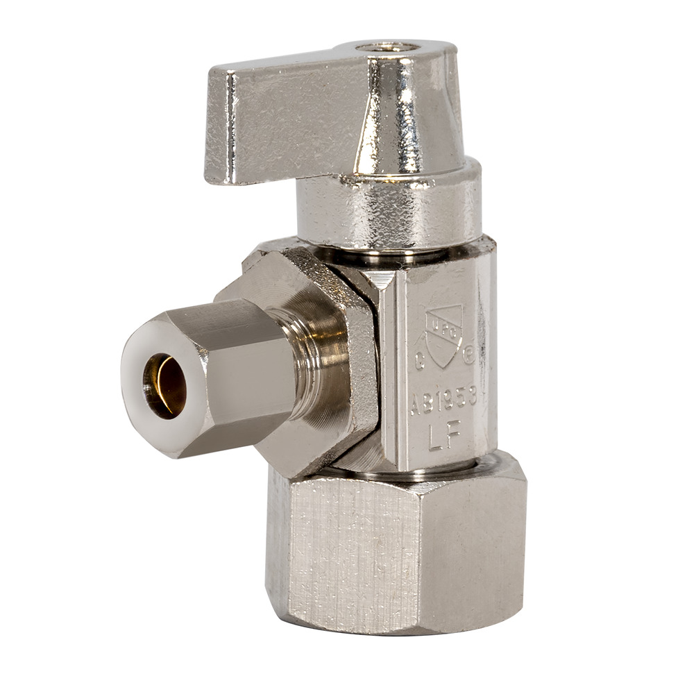 Tribal Hubz Angle Stop Valve 1/2 in. x 1/4 in. Comp.