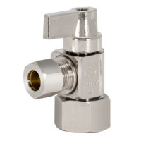 Tribal Hubz Angle Stop Valve 1/2 in. x 3/8 in. Comp.