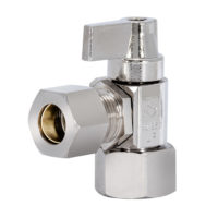 Tribal Hubz Angle Stop Valve 1/2 in. x 1/2 in. Comp.