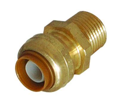 Shakbite Brass Male Adapter - 1/2 in. x 1/2 in. MIP