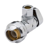 "1/2"" Sharkbite x 3/8"" Comp. ¼ Turn Angle Stop Valve"
