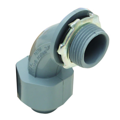 "1/2"" Non-Metallic Liquid Tight 90° Connector"